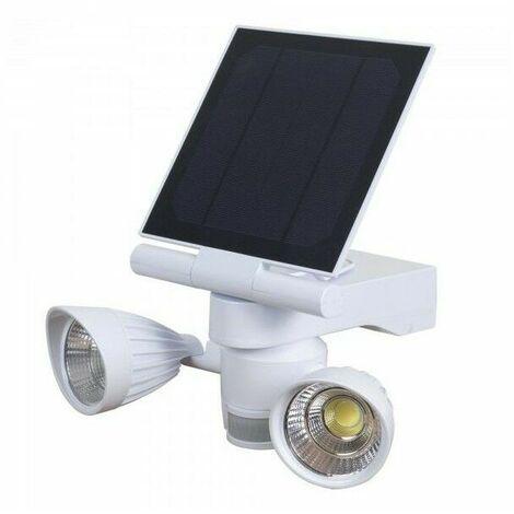 Spot solaire 2x5W LED 800 lumens avec detecteur - Ribimex