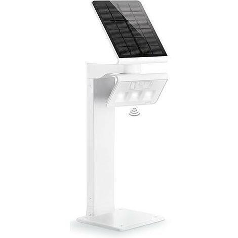 Spot solaire avec détecteur de mouvements Steinel XSolar L-S 1.2 W blanc neutre argent