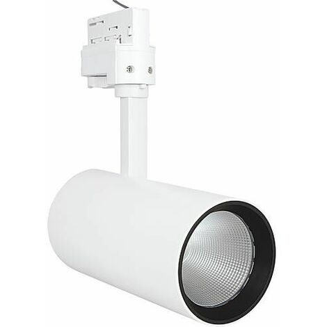 Spot sur rail LED Osram 35W/4000K, NFL blanc