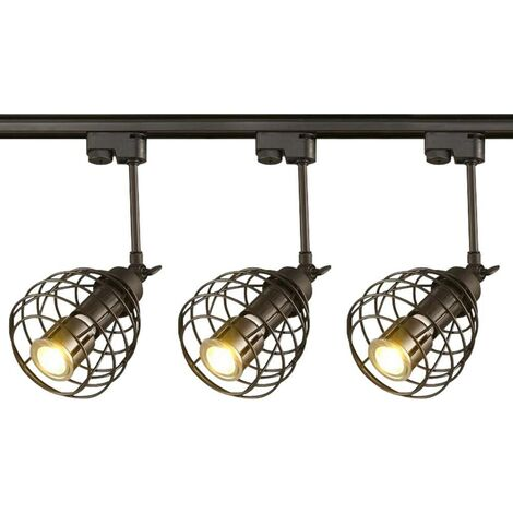 Spotlight 10W LED Applique murale de fond Industriel Lustre Lampe de table E27 Plafonnier Lustre 4 lumières pour le salon chambre restaurant café