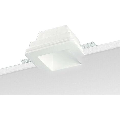 Spotlight construido en Yeso Noble Cuadrado Blanco 9096