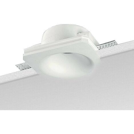 Spotlight construit en Plâtre Noble rond Blanc 9095