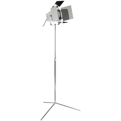 Spotlight Floor Lamp, Chrome, EU Plug