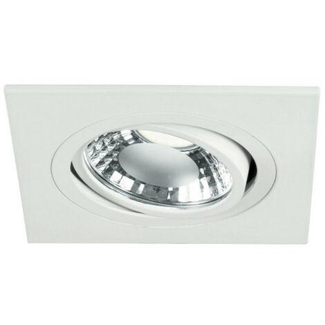 Spotlight Noble de empotrar blanco ajustable agujero cuadrado de 80mm 9088/BI