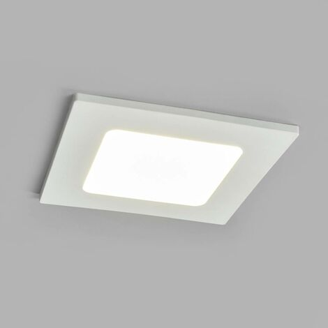 "Spotlight Recessed ""Joki"" (modern) in White made of Plastic for e.g. Bathroom (1 light source, A+) from Lampenwelt"