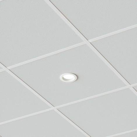 "Spotlight Recessed ""Piet"" (modern) in White made of Aluminium for e.g. Bathroom (A+) from Lampenwelt"