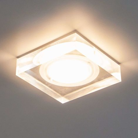 "Spotlight Recessed ""Sara"" (modern) in Clear made of Plastic for e.g. Bathroom (1 light source, A+) from Lampenwelt"