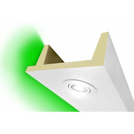 Spots à LED profilés caisson | PU | antichocs | Hexim | 80x200mm | LED-11