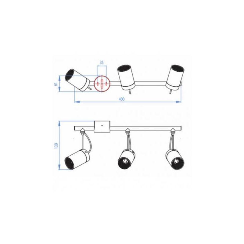 Chrome Dintérieur Montana Tubes 3 Spots y0wP8OvmNn