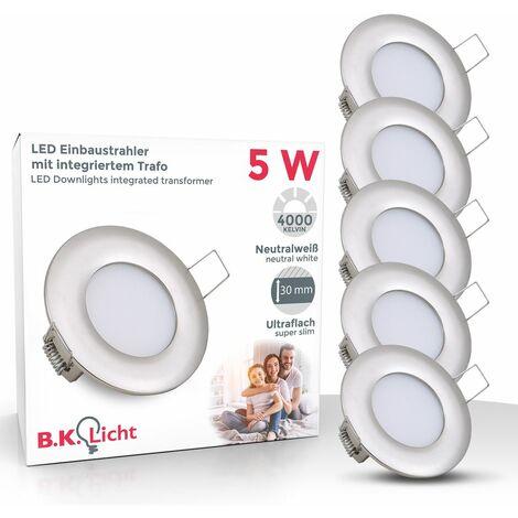 Spots encastrables LED 5W 230V spot à encastrer éclairage plafond lot de 5