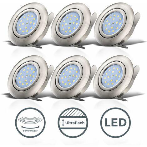 Spots encastrables LED ultra-plats orientables spots plafond à encastrer