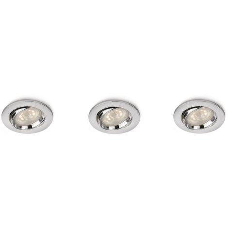 Spots encastrables Smartspot 3 x 4W - Chrome - Philips 518259