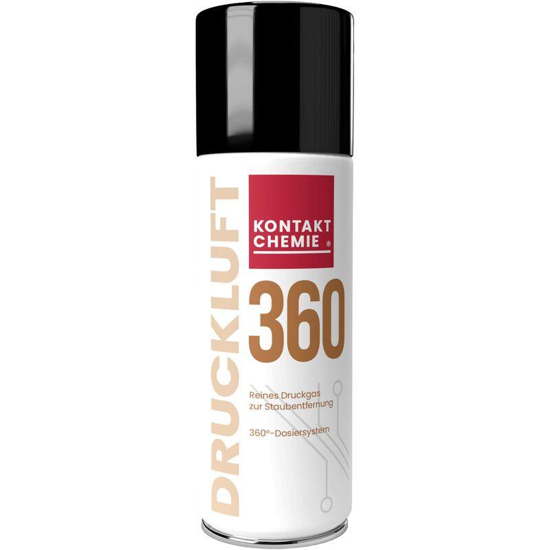 DRUCKLUFT 360 33162-DE spray haute pression non combustible 200 ml C99072 - Kontakt Chemie