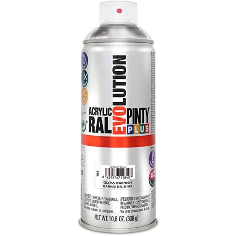 SPRAY ACRILICO BARNIZ BRILLANTE PINTYPLUS 400 ML