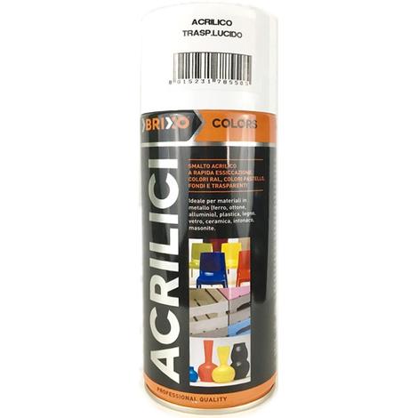 Spray acrilico colors trasparente brixo lucido 400 millilitri