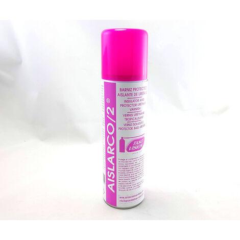 Spray Barniz Protector Aislante, de Circuitos Electrónicos, proteje de la humedad, suciedad, fugas de corriente Tasosision AISLARCO2