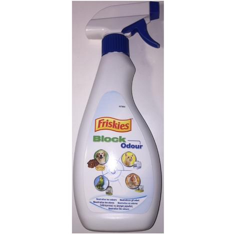 "Spray ""Block Odour"" 500ml - neutralise les odeurs d'animaux - Friskies"