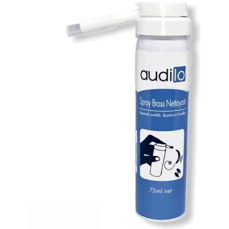 Spray brosse nettoyant appareil auditifs Audilo (110/75ml)