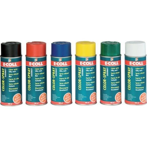Spray colorant mat 400ml bleu E-COLL (Par 6)