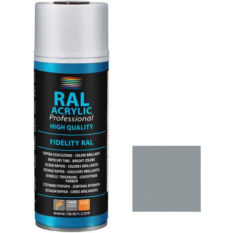 Spray de pintura aluminio RAL 9006 400ml. (Faren 5VD400)