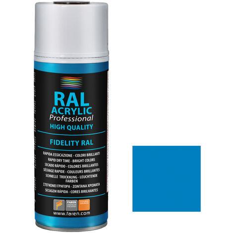 Spray de pintura azul luminoso RAL 5012 400ml. (Faren 4VM400)