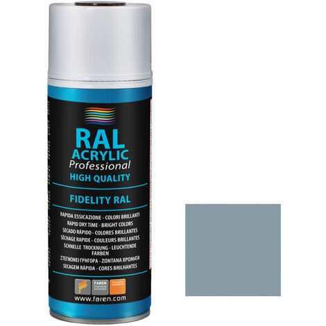Spray de pintura gris plata RAL 7001 400ml. (Faren 4VV400)