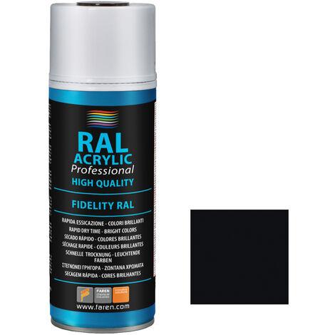 Spray de pintura negro satín RAL 9005 400ml. (Faren 5VN400)