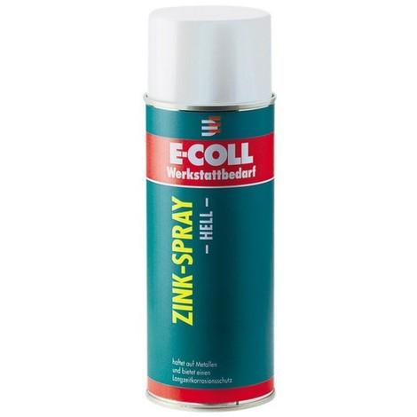 Spray de zinc clair, Modèle : Aérosol de 400 ml, Couleur gris argenté