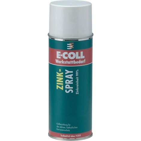 Spray de zinc extra 400ml E-COLL probado por TÜV
