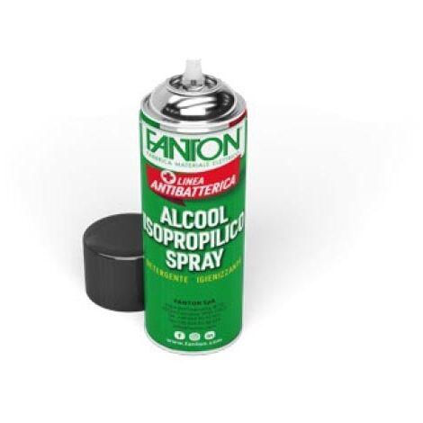 Spray désinfectant 400ml d'alcool isopropylique antibactérien par Biocote contre 99% des virus Fanton 24444AB