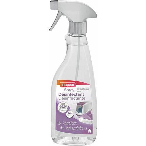 Spray désinfectant, litières, cages, niches, accessoires et plans de travail - 500 ml