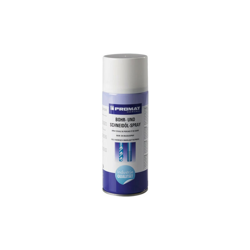 Spray d'huile de forage/de coupe 400 ml bombe aérosol PROMAT CHEMICALS (Par 12)