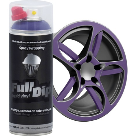 Spray Full Dip Couleur Solide Vinyle Liquide 400 mL | violet
