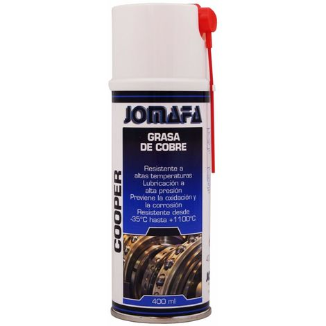 SPRAY GRASA DE COBRE RESISTENTA A TEMPERATURA -40º A 122 ºC 400ml -- 10832