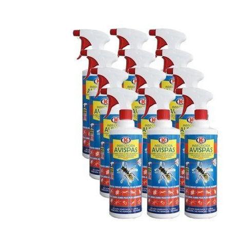 Spray insecticida TANZIL 1L contra insectos voladores y rastreros - Caja Completa 12x