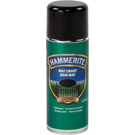 Spray laque métaux Hammerite Noir Mat - 400ml
