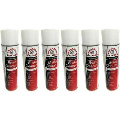 spray limpia o limpiador de frenos de disco,tambor,pastillas,embragues 6 botes