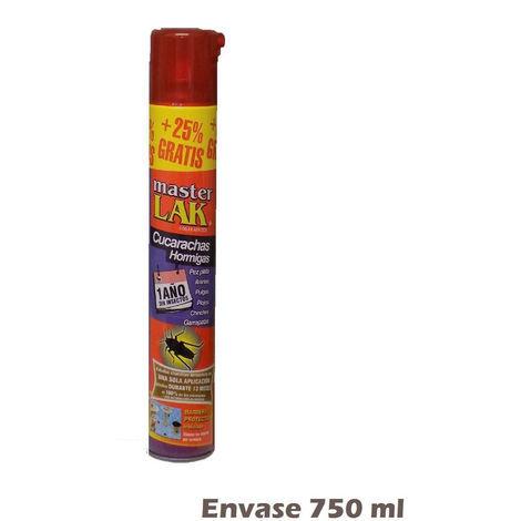 Spray MASTER LAC 750ml contra moscas, cucarachas, hormigas, arañas y pulgas