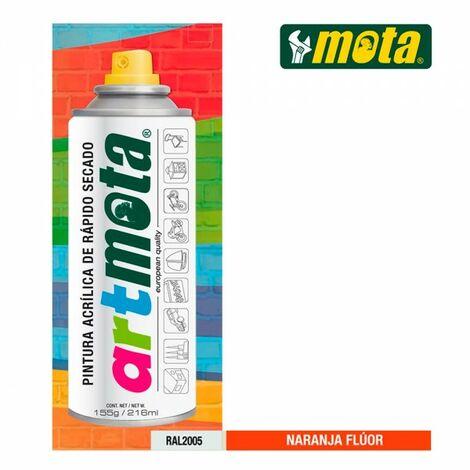 Spray orange fluorescent ral2005 216ml mota la61