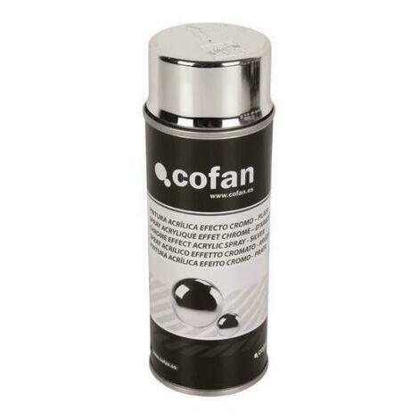 """spray pintura """"efecto cromo o cromado"""" color plata 400 ml"""