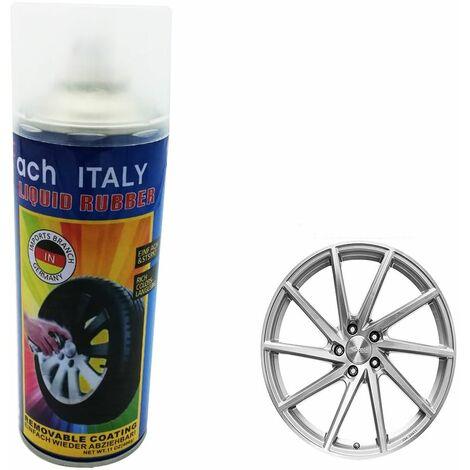 Spray vernice pittura cerchi auto pellicola removibile flash silver KC36 400g