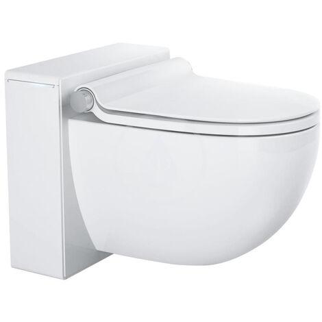 Sprchová závěsná toaleta, alpská bílá