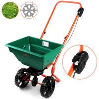 Spreader Gritter 25 L Volume Lawn Seeds Fertiliser Road Salt or Sand Seeding or Winter Maintenance