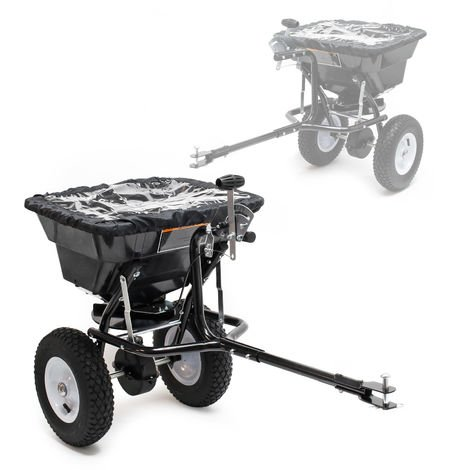 Spreader GT1507 with 29L Capacity and Hitch for Fertilizer, Seeds, Road Salt & More