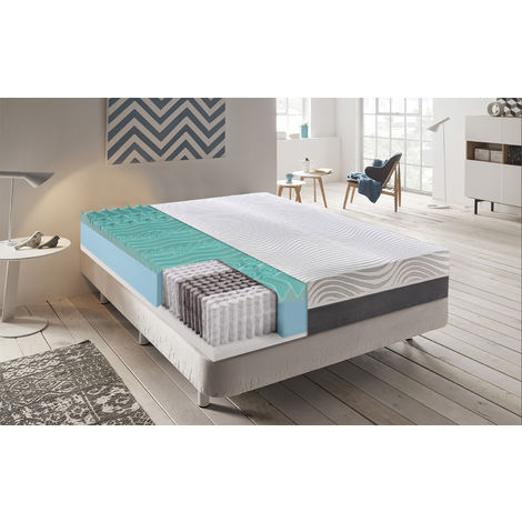 Spring and Memory Foam Mattress 9 Comfort Zones – Removable cover