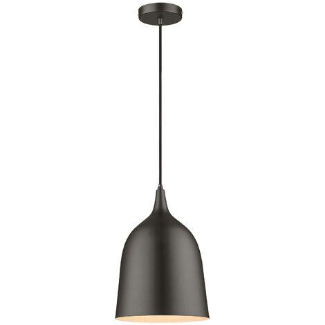 Spring Lighting - 1 Light Dome Ceiling Pendant Black, Matt Black, E27
