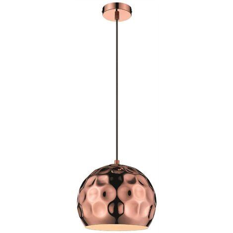 Spring Lighting - 1 Light Small Dome Ceiling Pendant Black, Copper, E27