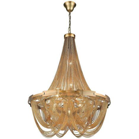 Spring Lighting - 6 Light Chandelier Brass Finish, E14