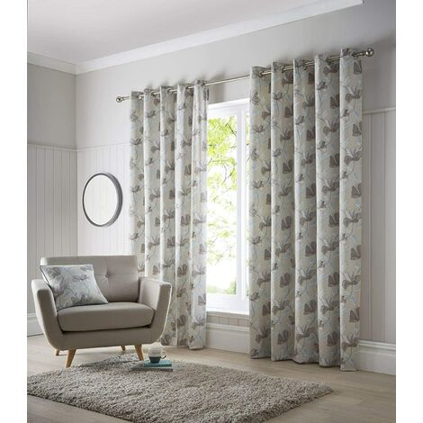 "Springfield - Teal - Eyelet Curtains - 46x54"""