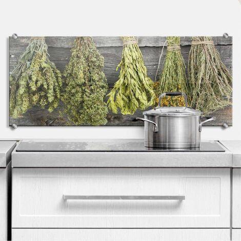 Spritzschutz Frisches Basilikum 80x30cm Küchenrückwand
